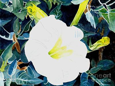 Datura Painting - Sacred Datura - W. Jimson Weed by Ralph Kingery