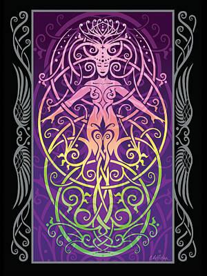 Angel Digital Art - Sacred Ecology V.2 by Cristina McAllister