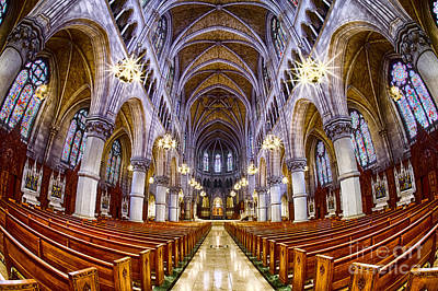 Sacred Heart Basilica Print by Jerry Fornarotto