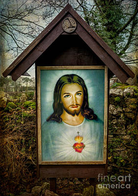 Sacred Heart Of Jesus Print by Adrian Evans