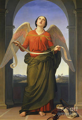 Heavenly Angels Painting - Sacred Music by  Luigi Mussini