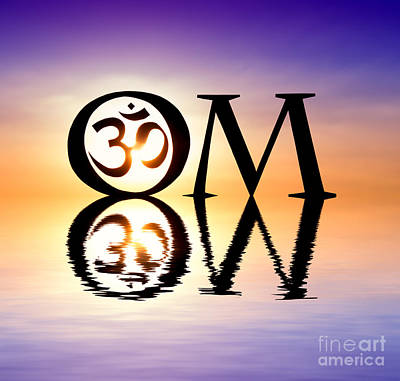 Meditative Photograph - Sacred Om by Tim Gainey