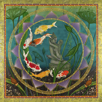 Tibetan Buddhism Painting - Sacred Pond by Nadean OBrien