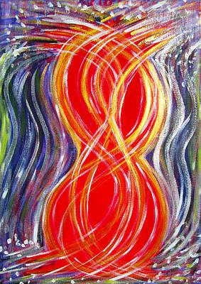 Tantra Painting - Sacred Tantra Streams by Geert Hemelings