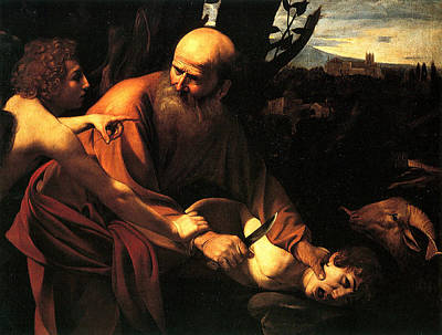 Sacrifice Of Issac Print by Caravaggio