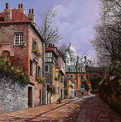 Montmartre Painting - Sacro Cuore by Guido Borelli