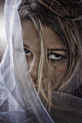 Worried Photograph - Sad Girl by Erik Brede
