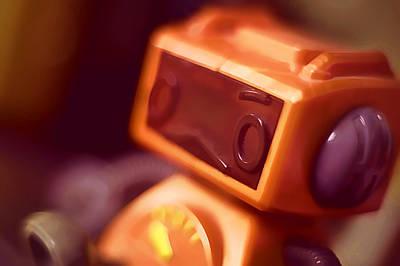 Close Up Photograph - Sad Little Robot by Scott Norris