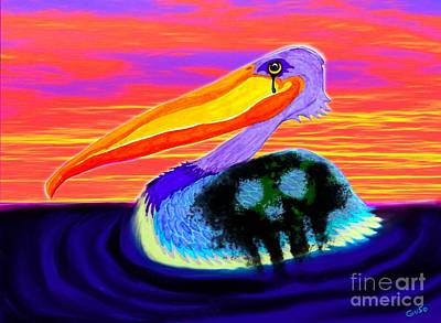 Pelican Mixed Media - Sad Reality by Nick Gustafson