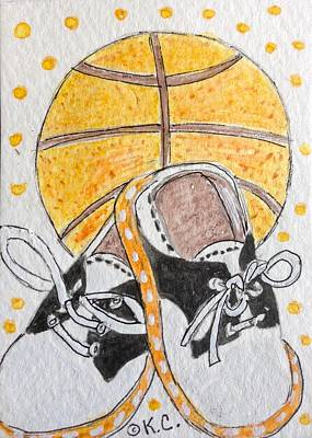 Saddle Oxfords And Basketball Print by Kathy Marrs Chandler