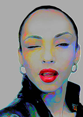 Earrings Painting - Sade 3 by  Fli Art