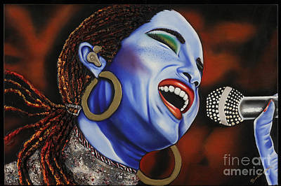 Sade In Concert Print by Nannette Harris