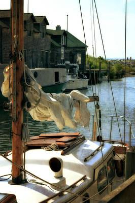 Safe Harbor In Fishtown Print by Michelle Calkins
