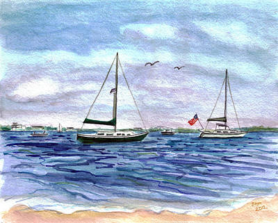 Bayville Painting - Safe Harbour by Clara Sue Beym