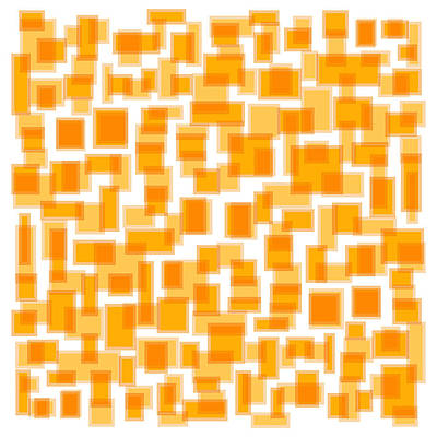 Orange Drawing - Saffron Yellow Abstract by Frank Tschakert