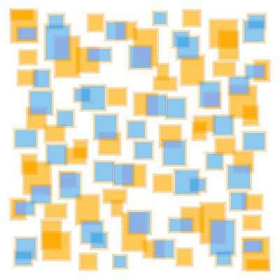 Saffron Yellow And Azure Blue Print by Frank Tschakert