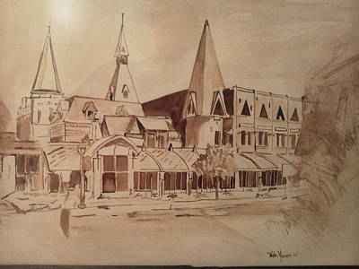 Sage Hall Visitor Cornell Print by Nathanael Manzer