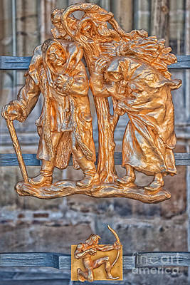 Sagittarius Zodiac Sign - St Vitus Cathedral - Prague Print by Ian Monk