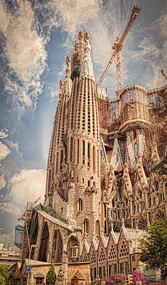 High Tower Photograph - Sagrada Familia by Erik Brede