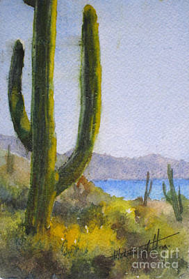 Sonora Painting - Saguaro by Mohamed Hirji
