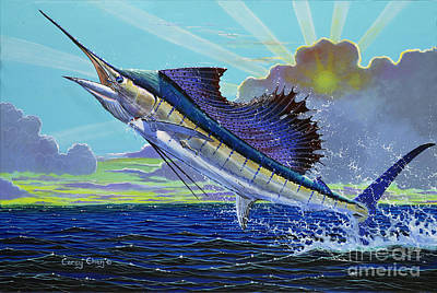 Kites Painting - Sail Away Off0014 by Carey Chen