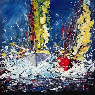 Sail Boats - Italy Original by Maurizio Lucarelli