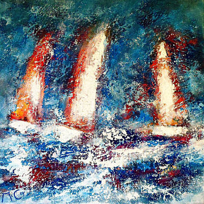 Sailing Painting - Sail On by K McCoy