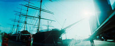 Sailboat At The Port, South Street Print by Panoramic Images