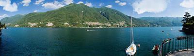 Lake Como Photograph - Sailboat In A Lake, Lake Como, Como by Panoramic Images