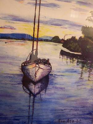 Sailboat In The Mangroves Of Costa Rica Print by Ronald Ataide