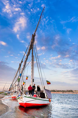 Sailboat Photograph - Sailboat On The Banks Of The Nile by Mark E Tisdale