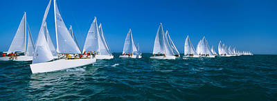 Sailboat Racing In The Ocean, Key West Print by Panoramic Images