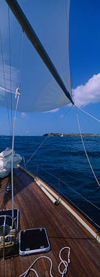 Sailboat Racing In The Sea, Grenada Print by Panoramic Images