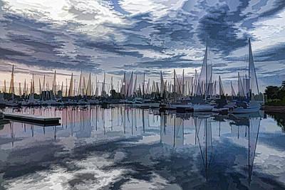 Sailboat Summer Impressions Print by Georgia Mizuleva