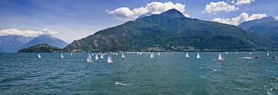 Lake Como Photograph - Sailboats In The Lake, Lake Como, Como by Panoramic Images