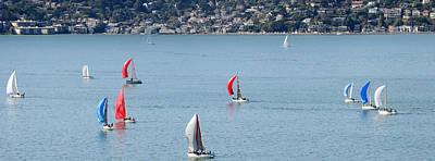 Sailboats On San Francisco Bay Print by Panoramic Images