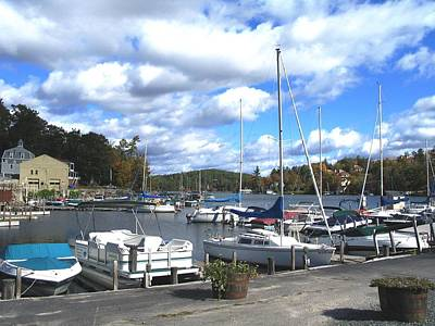 Sailboats On Sunapee Print by Will Boutin Photos