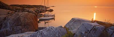 Sailboats On The Coast, Lilla Nassa Print by Panoramic Images