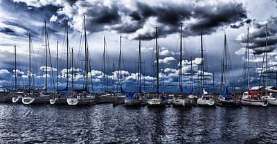 Quayside Photograph - Sailboats by Stelios Kleanthous