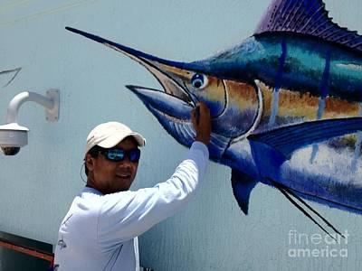 Ocean Turtle Painting - Sailfish Splash Park 3 by Carey Chen