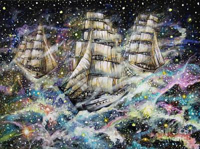 Sailing Among The Stars Original by Dariusz Orszulik