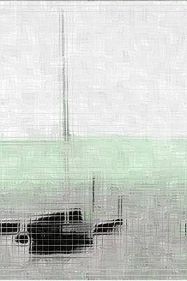 Sailing Boat At A Dock Original by Toppart Sweden