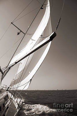 Sailboat Photograph - Sailing Fast Charleston South Carolina by Dustin K Ryan