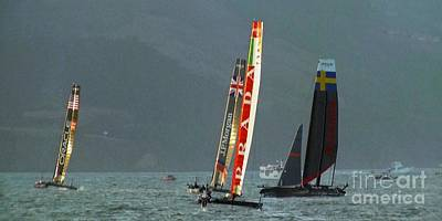Sailing Photograph - Sailing For America's Cup by Scott Cameron