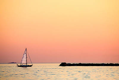 Sailing In Color Print by Gary Heller