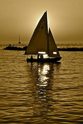 Sailing In Sepia Print by Frozen in Time Fine Art Photography