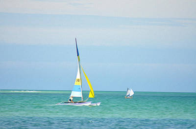 Sailboat Photograph - Sailing In The Gulf Of Mexico by Bill Cannon