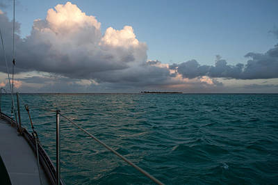 Caribbean Photograph - Sailing In The Tobago Cays by Susan  Degginger