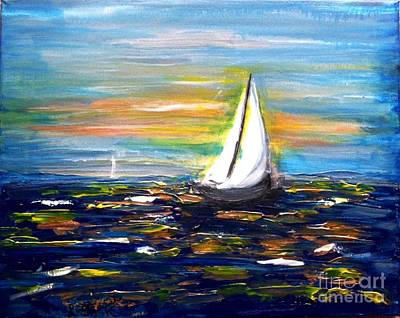 Sailing In Uncharted Watersacrylic Painting Original by Linda Waidelich