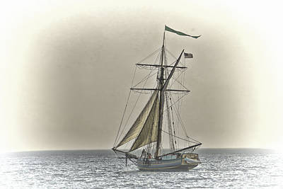 Sailing Off Print by Jack R Perry